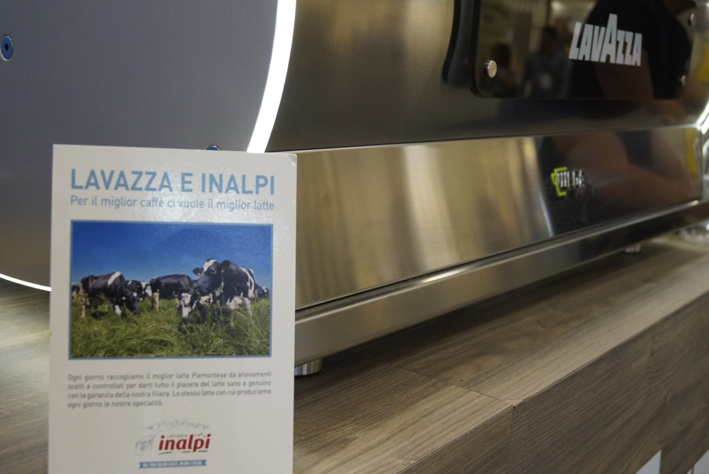 Sponsor Lavazza had coffee stations