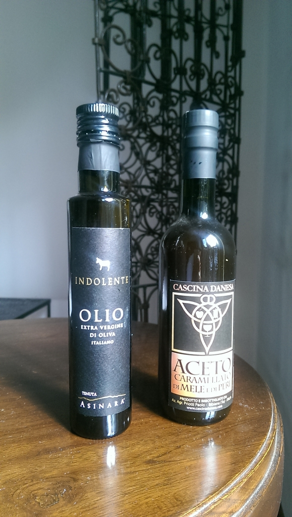 Sicilian olive oil and traditional Piemontese caramellato