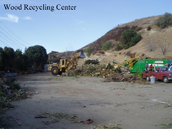 Recycling Centers are becoming more common. It is profitable to grind trees up into chips. The chips are sold as mulch primarily. This facility rents bins to suppliment income. They charge a minimum $20 to dump brush and clean lumber.
